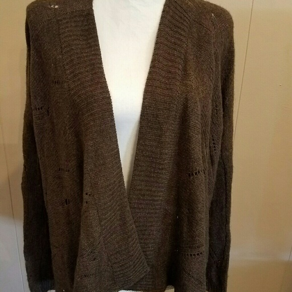 22d0a3b80ca Vince Brown Open Cardigan YAK HAIR WOOL Sweater S